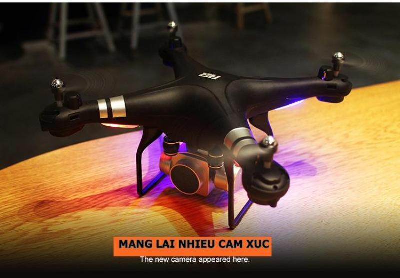 Flycam DRONE S10 camera WIFI 1080P SẮC NÉT quay trực tiếp về điện thoại-thàng nhập (màu trắng)