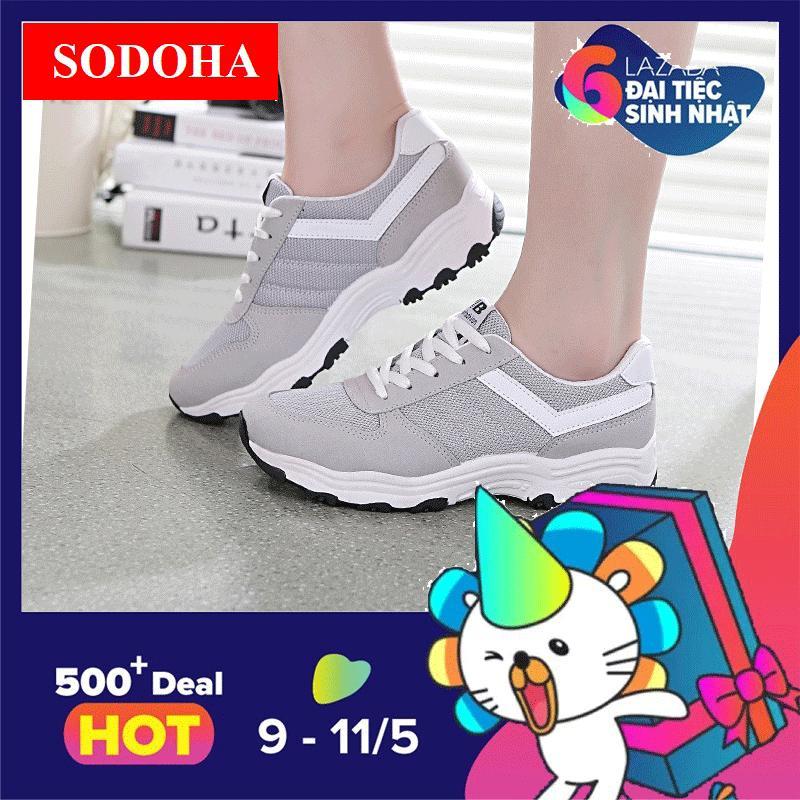Giay Sneaker Thể Thao Nữ Sodoha Sieu Hot Y3 685X Mau Xam Sodoha Chiết Khấu 50