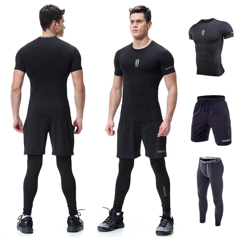 Ocean New fitness suit men's quick-drying tights gym high-intensity training running sportswear