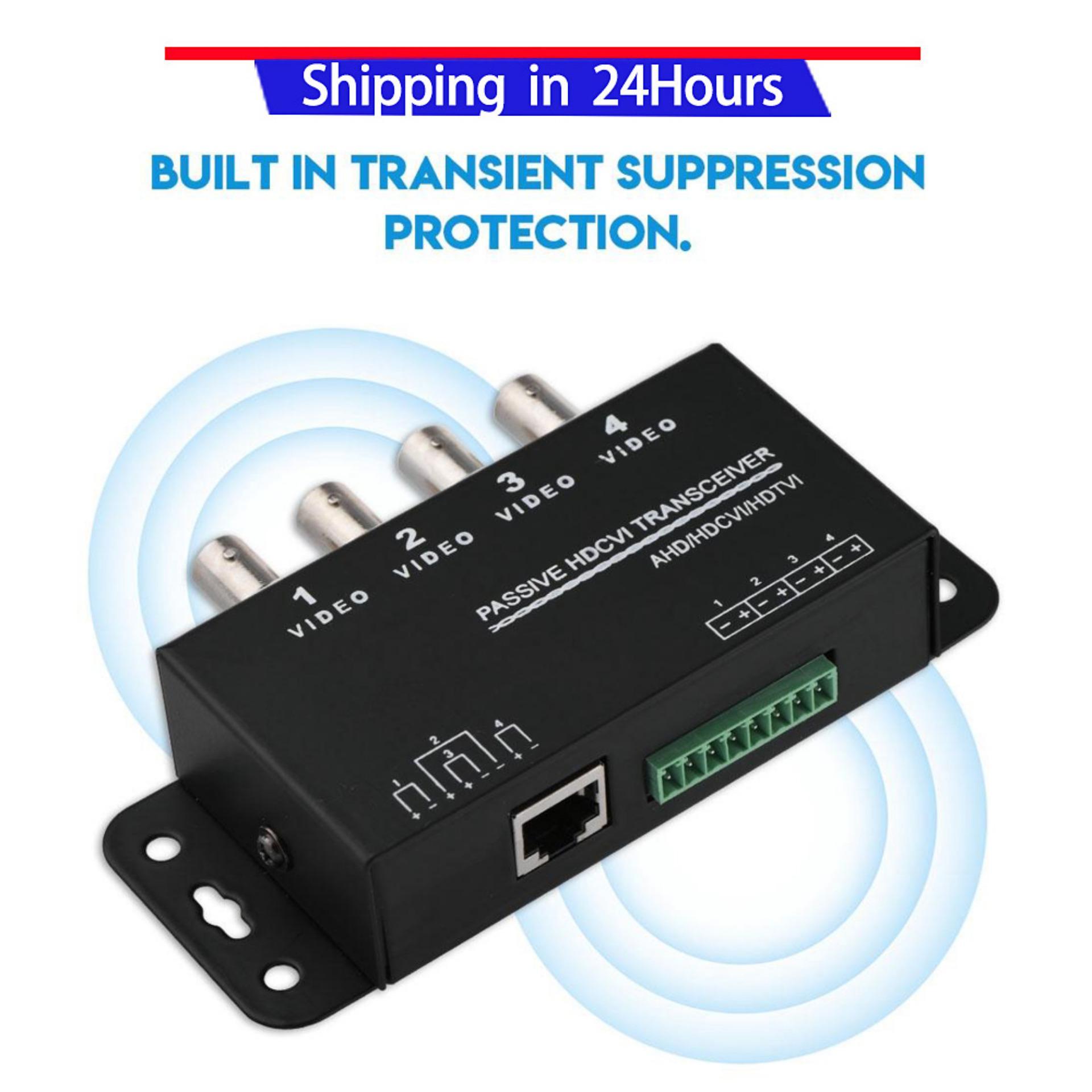 Video Transceiver BNC to RJ45 CAT5/6 UTP Passive Transceiver Video Balun for AHD/HDCVI/HDTVI CCTV Camera 4-CH - intl