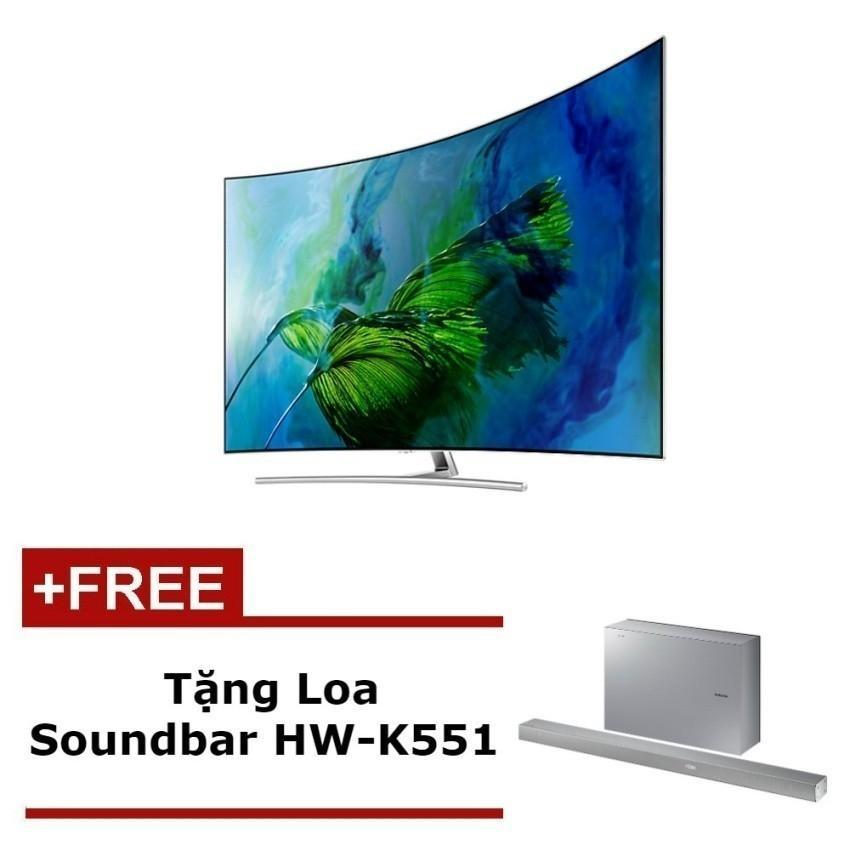Hình ảnh Smart TV QLED màn hình cong Samsung 65inch 4K – Model QA65Q8CAMKXXV(Bạc) – Hãng phân phối chính thức + Tặng Loa Soundbar HW-K551