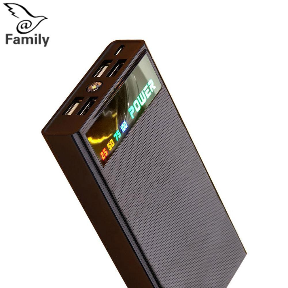 Hình ảnh Big Family:Cell Phone Latest Technology Free Ship 4 USB Port Battery Bank Power Supply Charging DIY Box Case Kit For Phone - intl