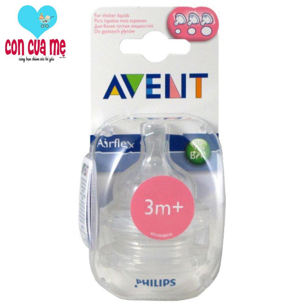 Bán Bộ 2 Chiếc Num Ty Thay Thế Avent Silicone Co Lượng Sữa Chảy Theo Sự Kiểm Soat Của Trẻ Mới