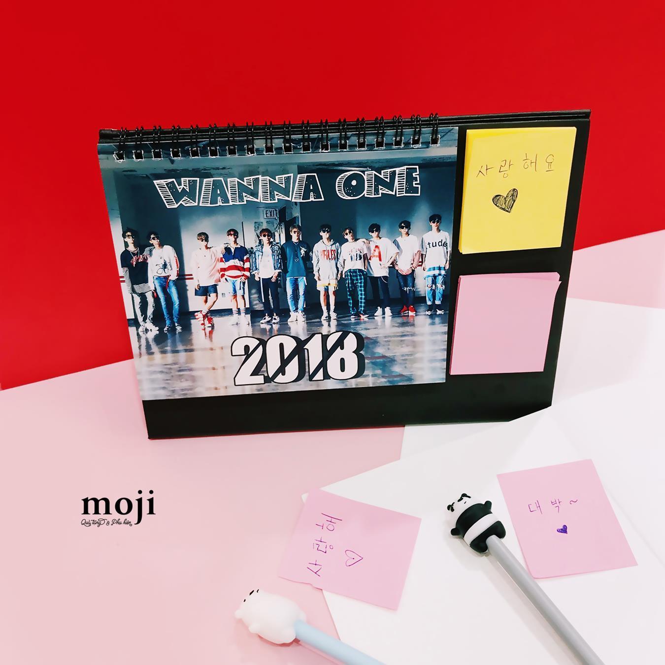 Mua Lịch 2018 để bàn Wanna One idol