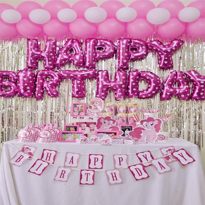 Hình ảnh Set bóng sinh nhật tặng kèm bơm cầm tay và 2 cuộn băng dính, phụ kiện sinh nhật cho bé và gia đình