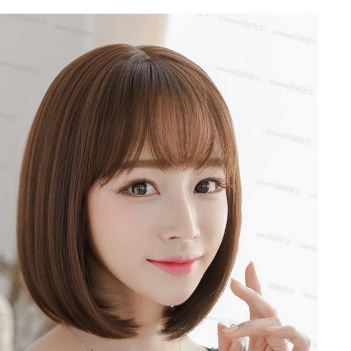 tóc giả nữ hàn quốc + Tặng kèm lưới T70 nhập khẩu
