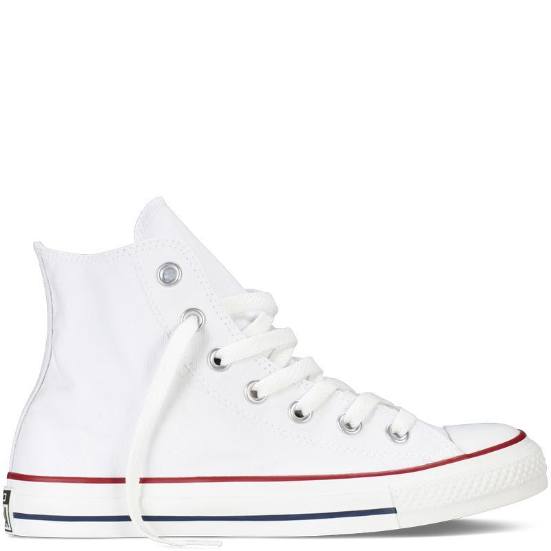 Giày Sneaker Nữ CV Classic Cổ Cao Màu Trắng