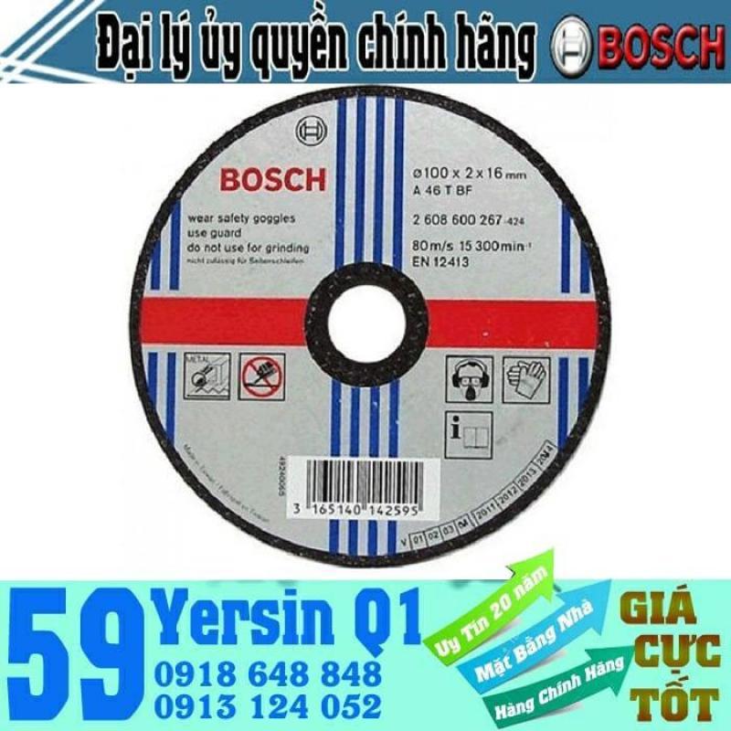 Đá cắt sắt Bosch 2608600267 - 100x2x16mm & 2608600267 - 100x2.5x16mm