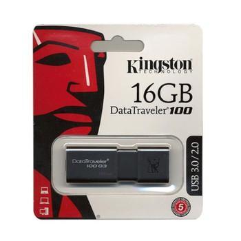 Hình ảnh USB 3.0 Kingston DT100G3 16GB - TEM FPT - BH 5 NĂM 1 ĐỔI 1