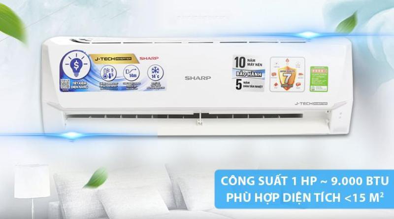 Bảng giá Máy lạnh Sharp Inverter 1 HP AH-X9VEW