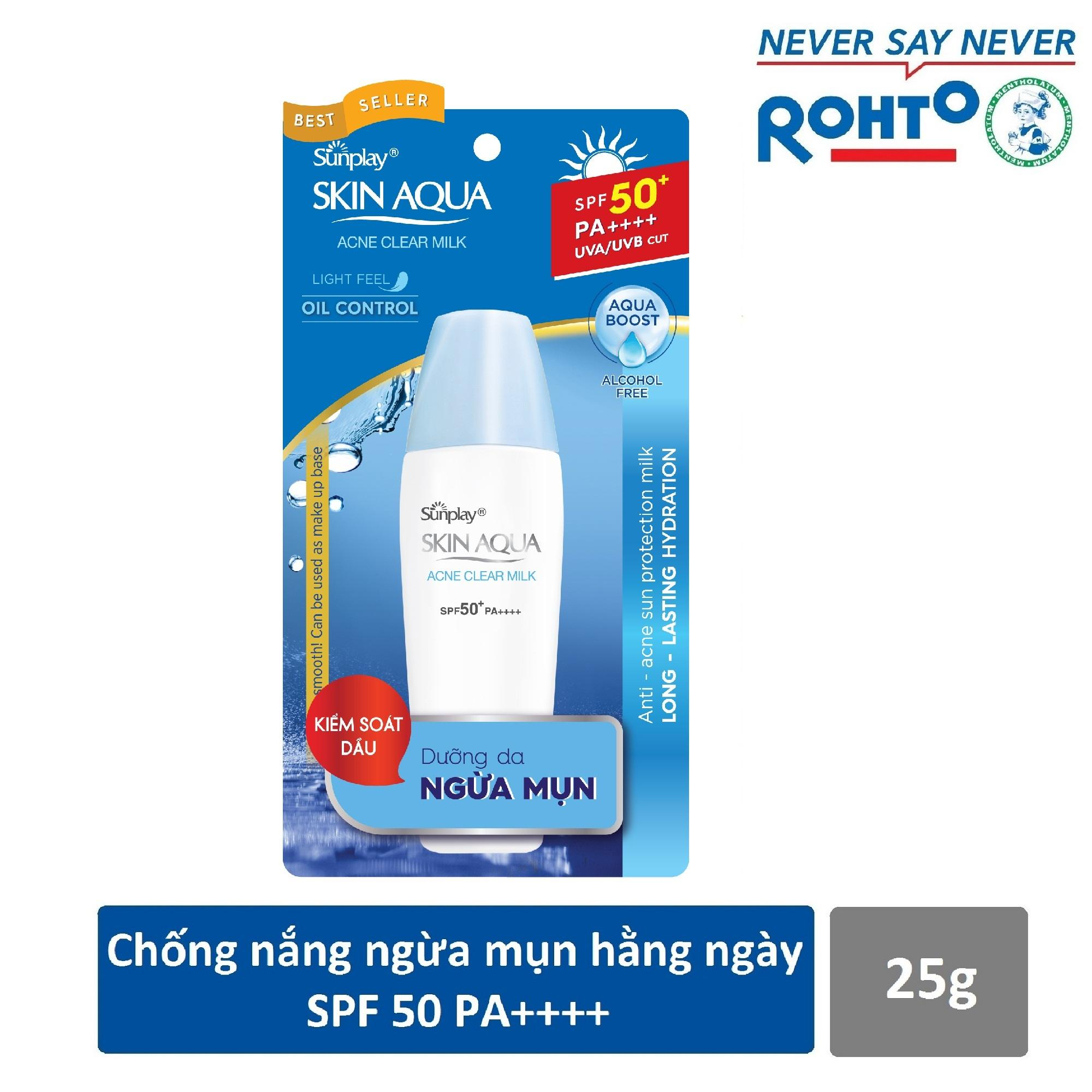 Hình ảnh Sữa chống nắng dưỡng da ngừa mụn Sunplay Skin Aqua Acne Clear SPF 50+ PA++++ 25g