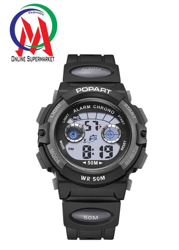 Nơi bán Đồng hồ Bé trai Popart OM-310 Chống Nước - Đen Viền Bạc, Đen viền đen