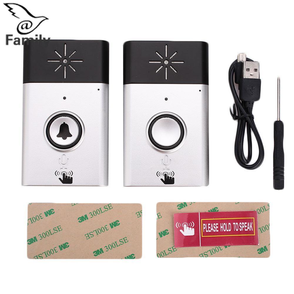 Big Family:Golden DoorBell Rechargeable Video Bluetooth WIFI Home Intercom Receivers - intl