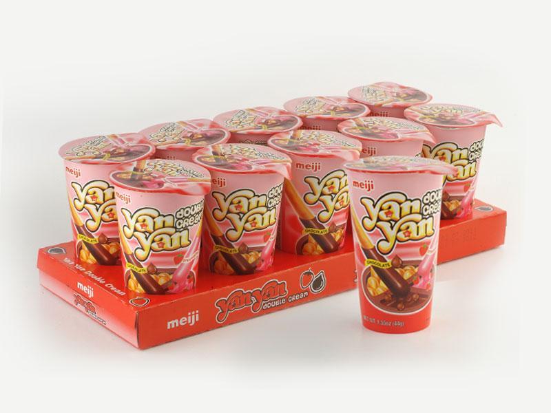 Hình ảnh Bánh Chấm MEIJI Yan Yan 50gr vị Double Socola X 10 Hộp