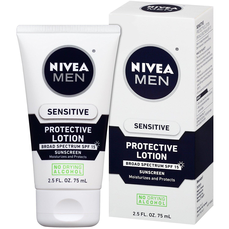 Dưỡng thể cho da mặt nhạy cảm nam giới NIVEA Men Sensitive Protective Lotion SPF 15 75ml (Mỹ)
