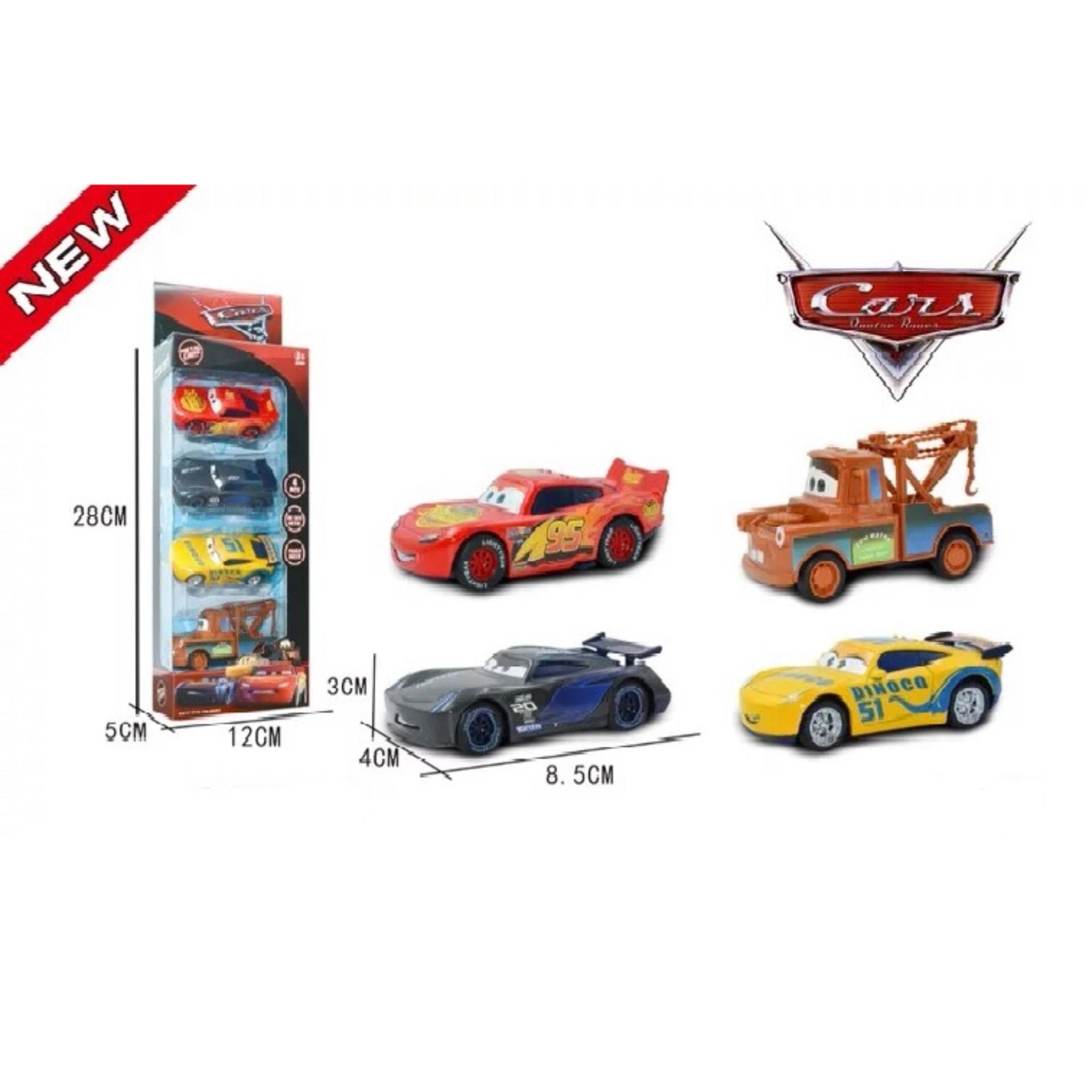 Hình ảnh Bộ 4 xe đồ chơi Disney car - Lightning McQueen bằng kim loại