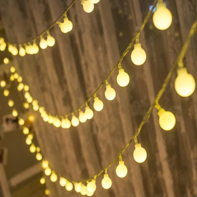 Hình ảnh Dây đèn Cherry Ball bóng led không nháy dài 5m (vàng nắng)