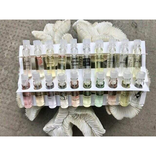 Combo 2 hộp 40 mẫu thử nước hoa( 2ml/ chai)