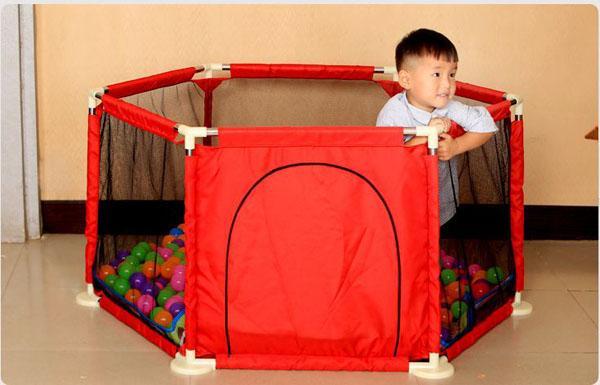 Hình ảnh Quây bóng khung thép, an toàn cho bé