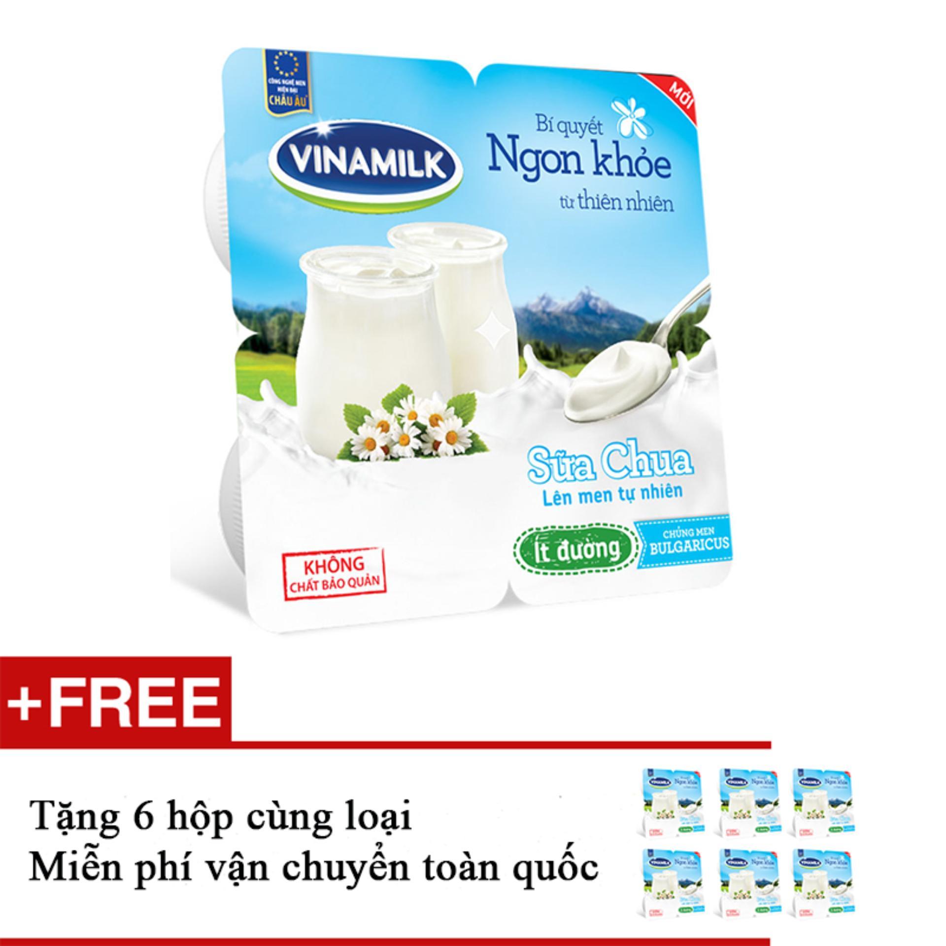 Giá Bán Thung 48 Hộp Sữa Chua Ăn Vinamilk It Đường Tặng 6 Hộp Cung Loại Vinamilk
