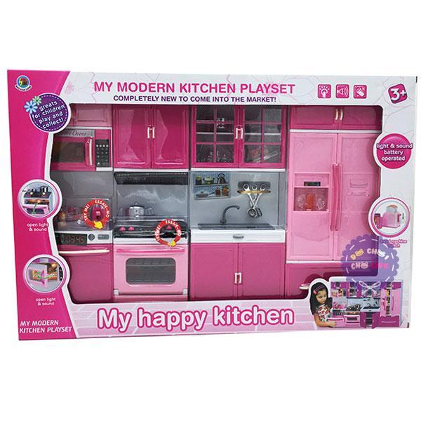 Hình ảnh Hộp đồ chơi nhà bếp pin 4 ngăn: Tủ lạnh,bồn rửa,lò nướng,tủ bếp 6925