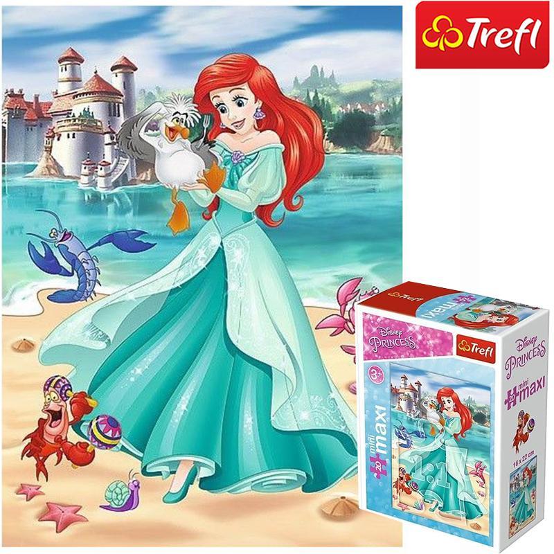 Hình ảnh Tranh ghép hình TREFL miniMaxi 56004 - 20 mảnh Trong thế giới công chúa/ Disney Princess (có bán lẻ từng bộ)) (jigsaw puzzle Tranh ghép hình chính hãng TREFL)