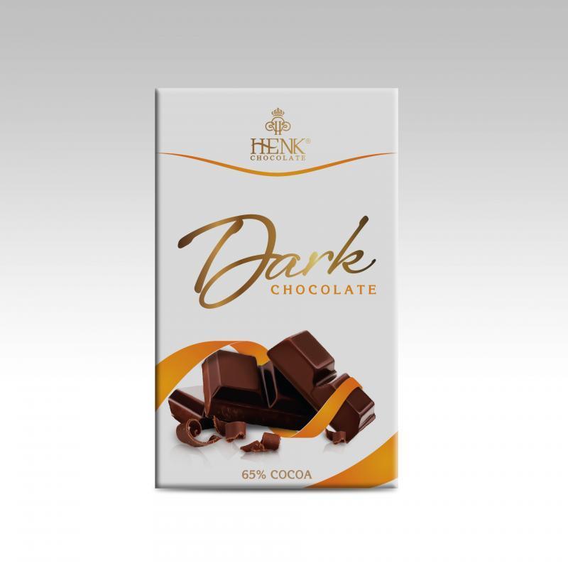 Hình ảnh Socola thanh 50g đen 65% | Henk Chocolate