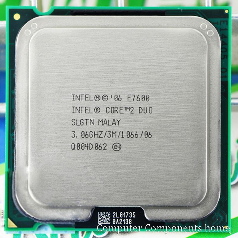 Asli Intel Core 2 Duo E7600 LGA 775 Prosesor CPU (3.0 GHz//1066 GHz) socket 775-Intl