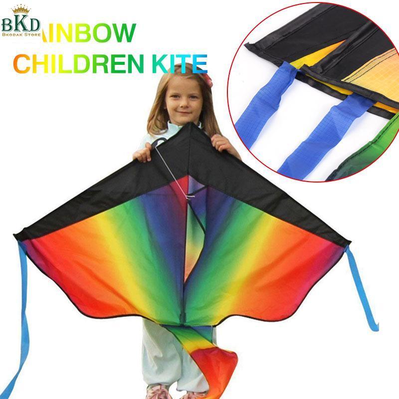 Hình ảnh Bkodak Store Triangle Multicolor Long Tail Kite Rainbow Kite Kids Rainbow Kite