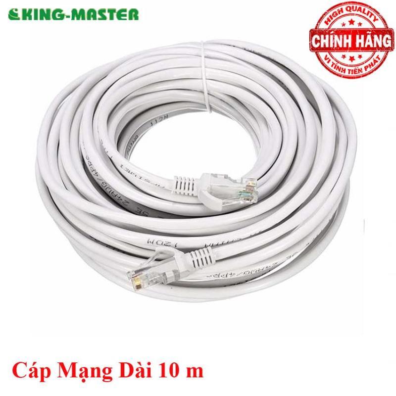 Bảng giá Dây cáp mạng LAN Internet bấm sẵn KingMaster dài 10m chuẩn cat 5e Phong Vũ