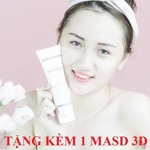 Hình ảnh Mặt nạ sủi bọt thải độc trắng da Detox BlanC Mask 150ml + Tặng kèm 1 mặt nạ 3D Foodaholic