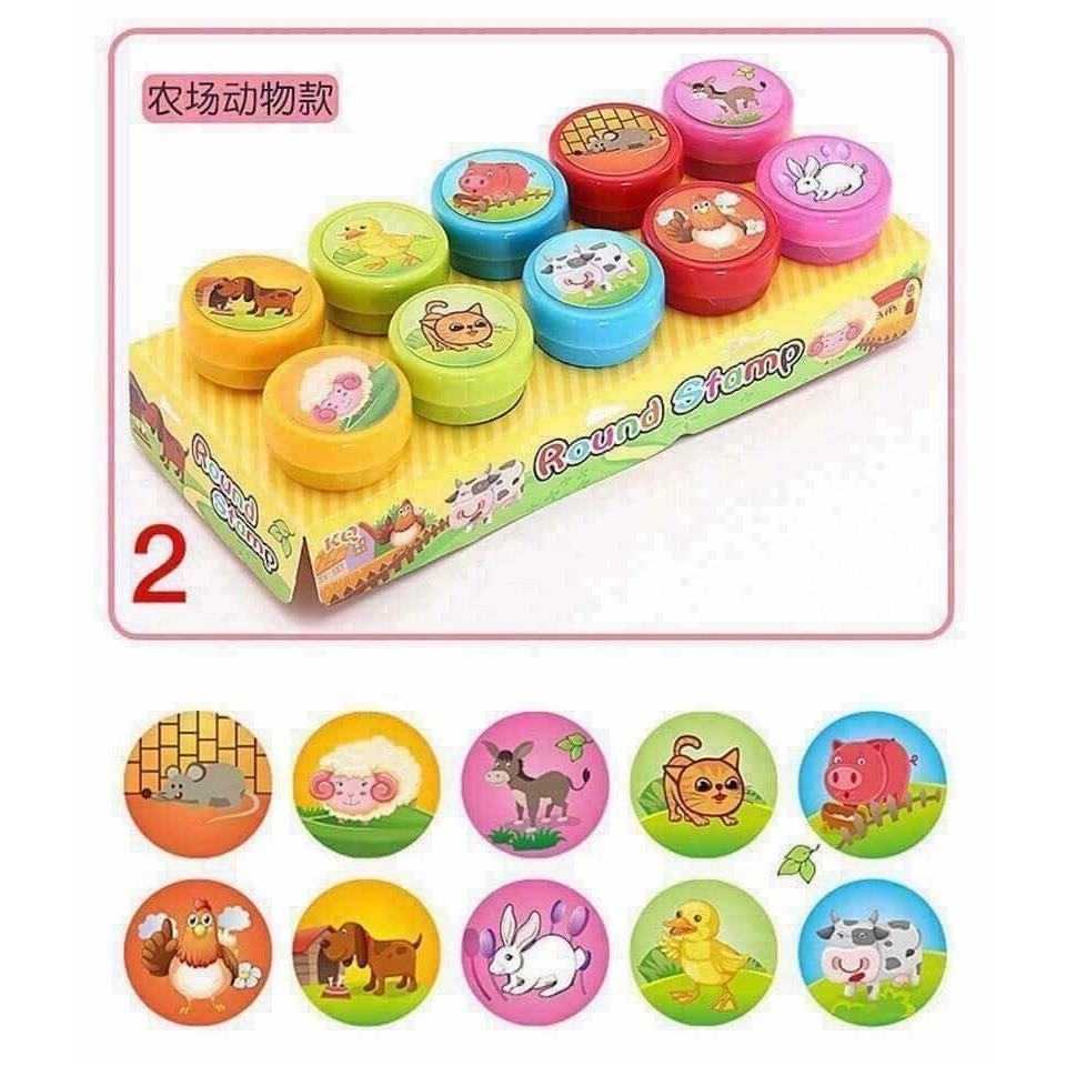 Hình ảnh Bộ đồ chơi đóng dấu gồm 10 con dấu cho bé