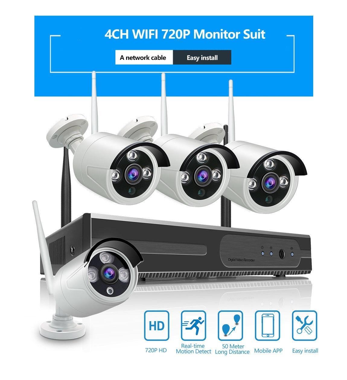 Bán Bộ Đầu Ghi Nvr Hd 4 Camera Wifi 720P Khong Day Rẻ Hồ Chí Minh