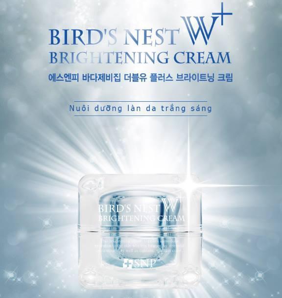 Hình ảnh KEM DƯỠNG TRẮNG & NGĂN NGỪA NẾP NHĂN TỪ TỔ YẾN CỦA HÃNG MỸ PHẨM CAO CẤP SNP --- BIRD'S NEST W+ BRIGHTENING CREAM
