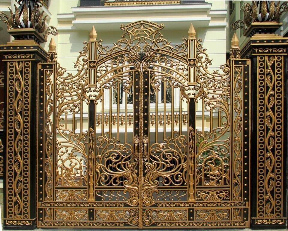 Hình ảnh Cổng Nhôm Đúc Thoáng
