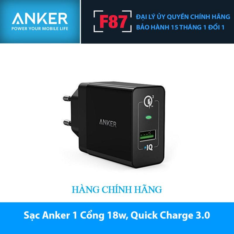 Sạc Anker 1 Cổng 18w, Quick Charge 3.0 - [PowerPort+ 1] - A2013