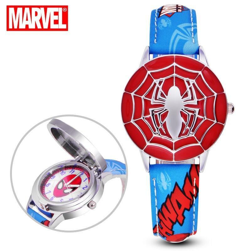 Marvel Avengers Spiderman Cartoon Anime Student Clamshell Leather Waterproof Watch Malaysia
