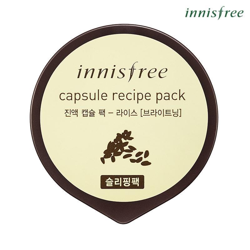 Mặt nạ ngủ làm sáng da từ gạo Innisfree Capsule Recipe Pack - Rice 10ml