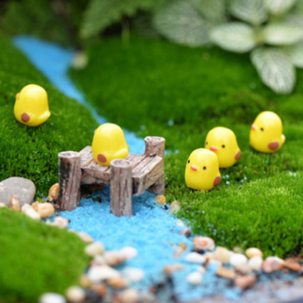 Hình ảnh Bộ 5 con gà phụ kiện trang trí tiểu cảnh gà con mini