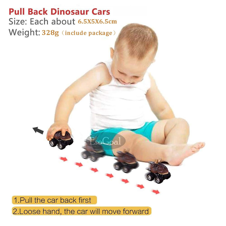 Harga Diskon Esogoal Pull Back Dinosaur Cars Vehicle Playsets For