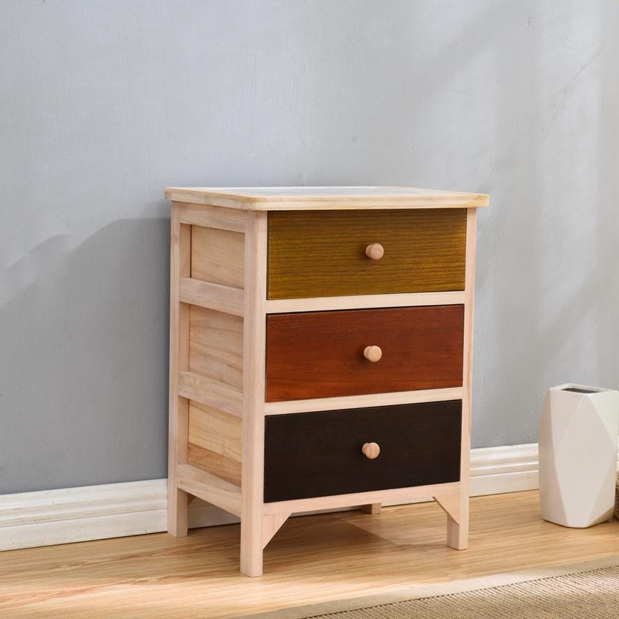 Solid Wood Quality between Storage Cabinet Drawer-type Storage Shelf Household Storage Box Simple Gap Five Bucket Narrow Cabinet