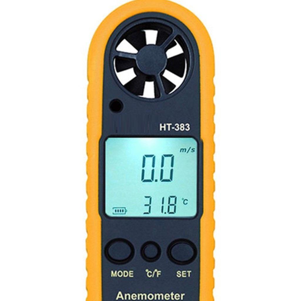 Máy đo tốc độ gió HT383 (Vàng phối đen)