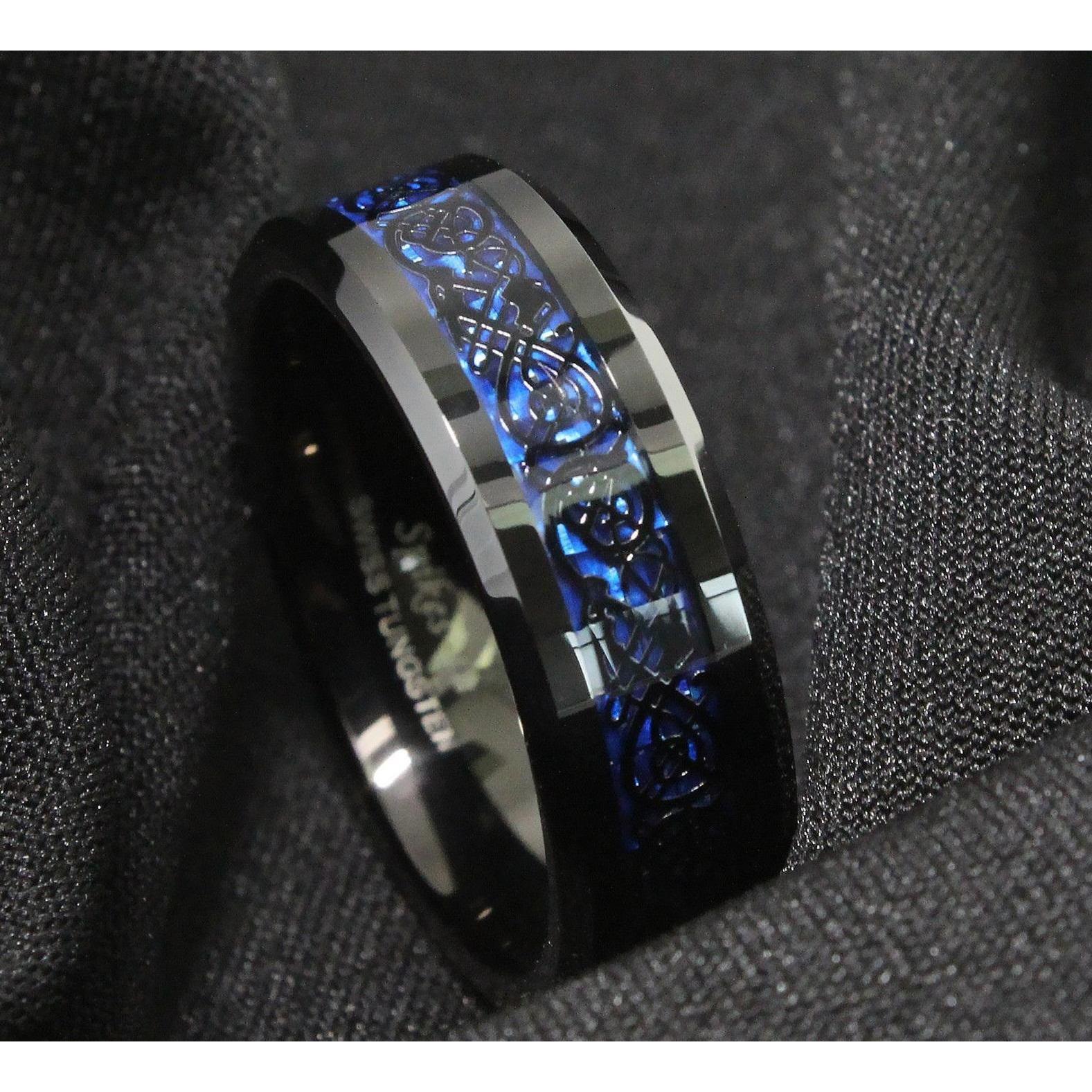 Hình ảnh Nhẫn nam titan đá xanh cực đẹp