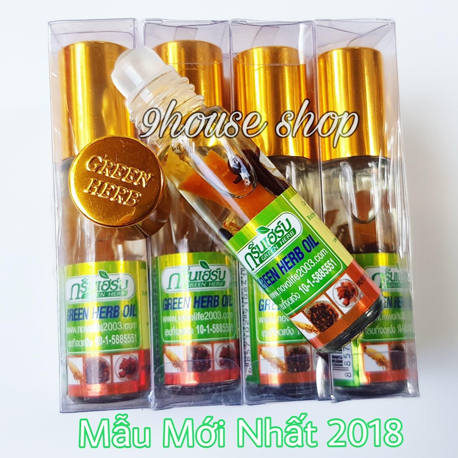 3 Dầu Nhân Sâm Ginseng Green Herb Oil Thái Lan (nhập khẩu)