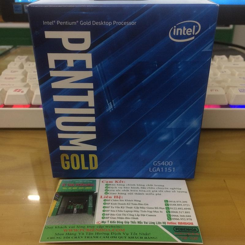Hình ảnh CPU Intel Pentium Gold G5400 3.70 GHz / 4MB / UHD 610 / Socket 1151V2 (Coffelake)