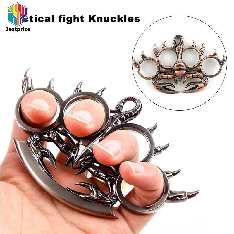 Hình ảnh Bestprice Iron Lotus Finger Tiger Portable Metal Punk Handcuffs
