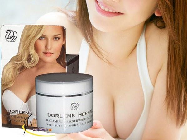 Kem săn chắc trắng sáng ngực Dorlene - Herbal áo trắng, Dorlene - Herbal, làm ngực nở, kem massage ngực,thuốc bôi nở ngực, Dorlene - Herbal áo trắng