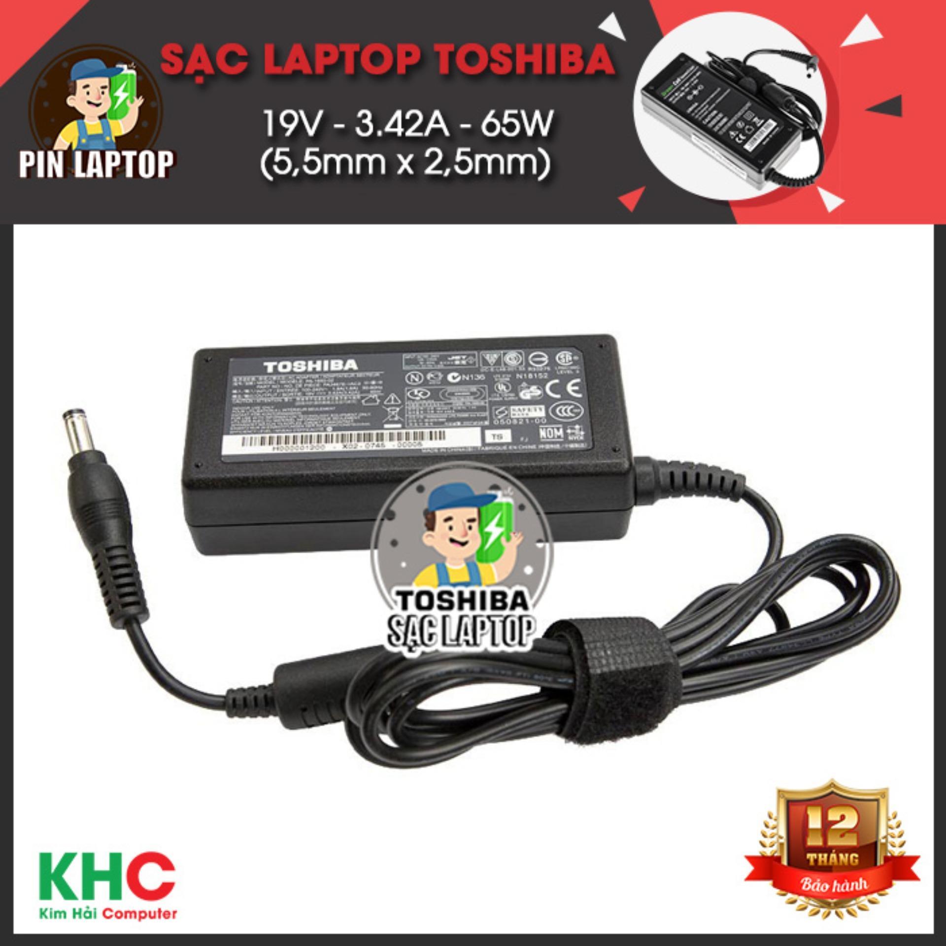 Sạc Laptop Toshiba 19V 3 42A 65W 5 5Mm X 2 5Mm Rẻ