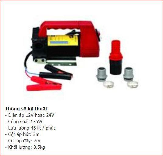 Hình ảnh Bơm Bầu Diesel Chạy Điện 12V hoặc 24V Tay Nhựa - Hồng Nhung Online