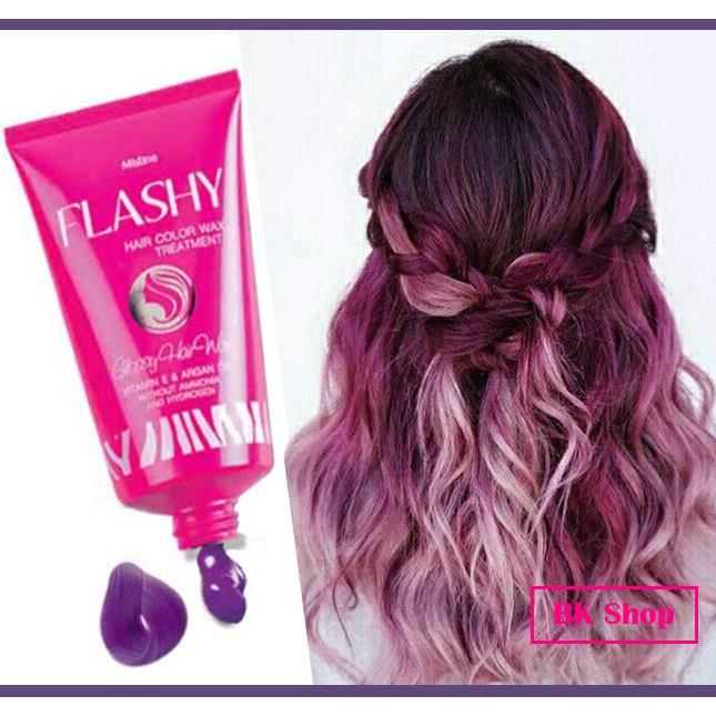 Hình ảnh WAX NHUỘM TẠM THỜI & PHỤC HỒI TÓC MISTINE FLASHY HAIR COLOR